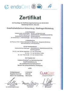 Zertifikat Endocert